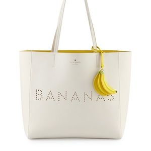 Kate Spade bananas purse charm